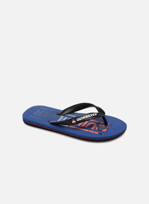 Flip flops Quiksilver Molokai Wordmark Youth Blue detailed view/ Pair view