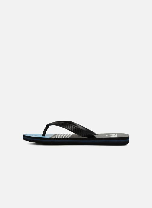 Flip flops Quiksilver Molokai Highline Slab Youth Black front view