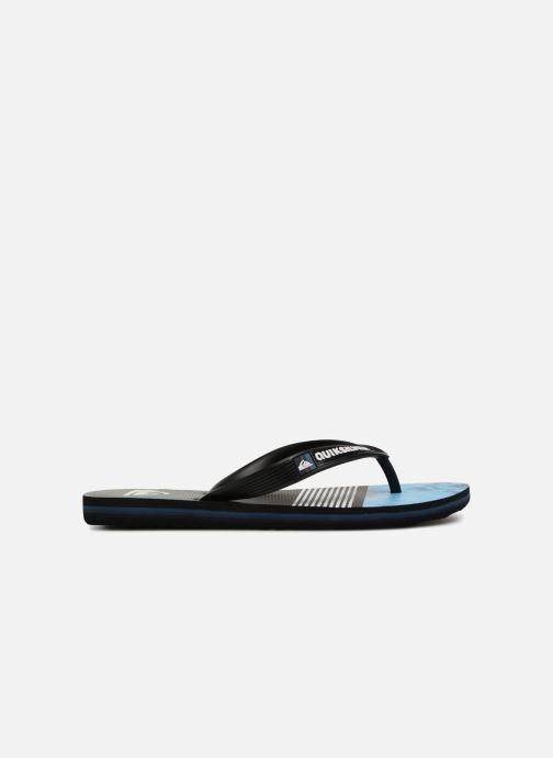 Flip flops Quiksilver Molokai Highline Slab Youth Black back view
