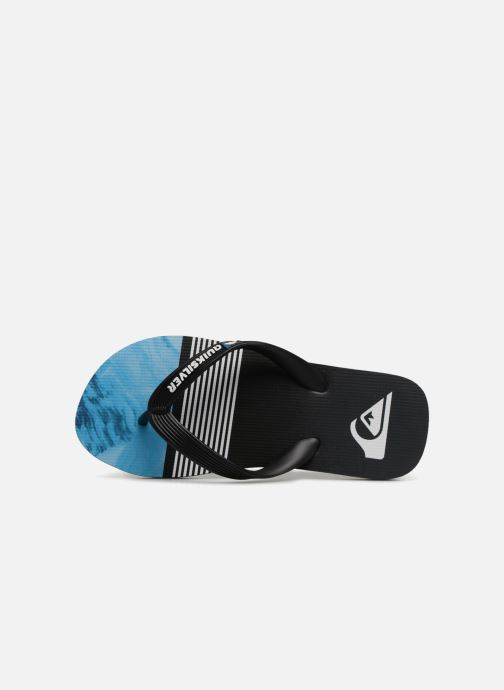 Flip flops Quiksilver Molokai Highline Slab Youth Black view from the left