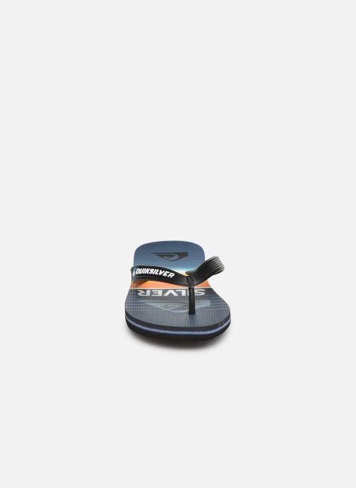 Tongs Quiksilver Molokai Highline Slab Youth Bleu vue portées chaussures