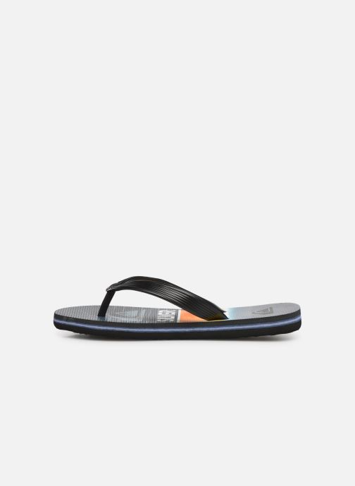 Flip flops Quiksilver Molokai Highline Slab Youth Blue front view