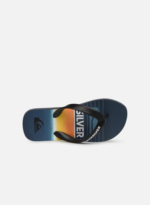 Flip flops Quiksilver Molokai Highline Slab Youth Blue view from the left