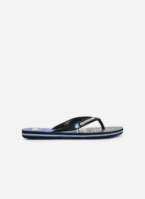 Flip flops Quiksilver Molokai Highline Slab Youth Blue back view