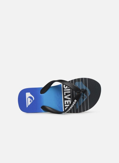 Chanclas Quiksilver Molokai Highline Slab Youth Azul vista lateral izquierda