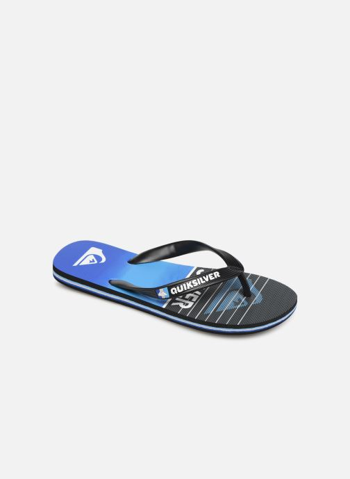 Chanclas Quiksilver Molokai Highline Slab Youth Azul vista de detalle / par