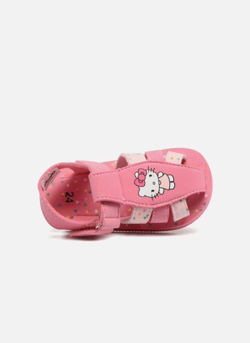 Sandalen Hello Kitty Haciba rosa ansicht von links