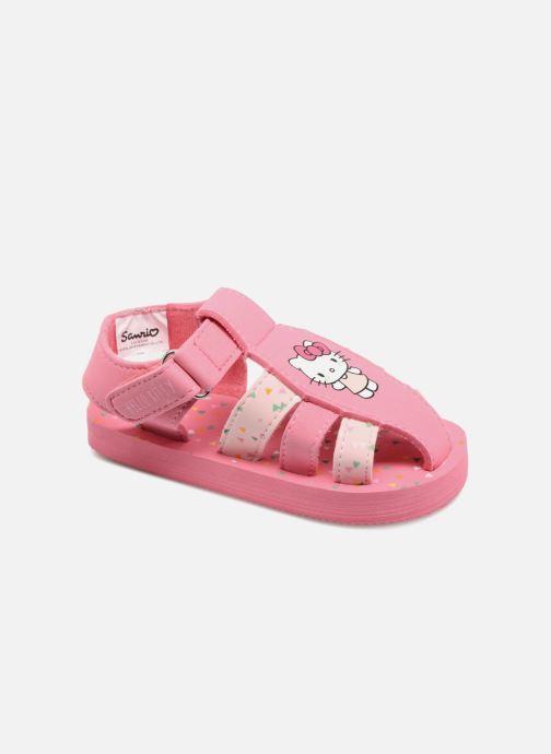 Sandales et nu-pieds Hello Kitty Haciba Rose vue détail/paire