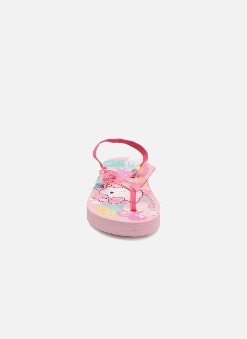 Tongs Hello Kitty Habla elas Rose vue portées chaussures