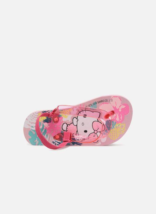 Tongs Hello Kitty Habla elas Rose vue gauche