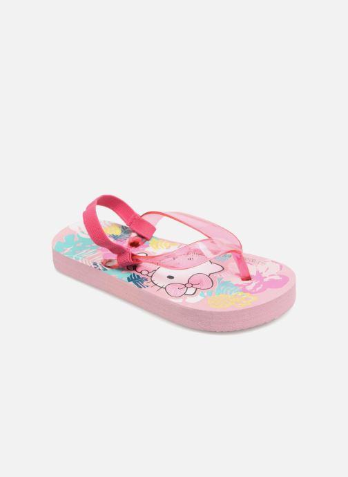 Tongs Hello Kitty Habla elas Rose vue détail/paire