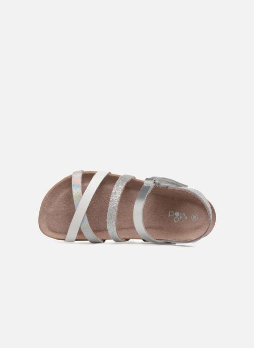 Sandalen Mod8 Kornelia silber ansicht von links