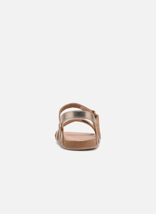 Sandales et nu-pieds Mod8 Kornelia Or et bronze vue droite