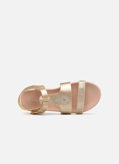 Sandales et nu-pieds Mod8 Dallas Or et bronze vue gauche