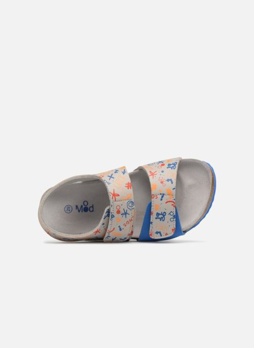 Sandales et nu-pieds Mod8 Darkou Gris vue gauche