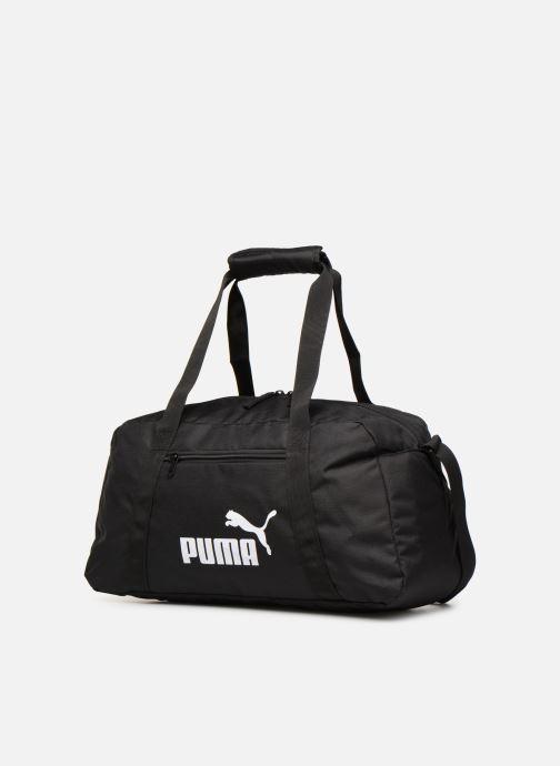 Sporttaschen Puma Phase Sport Bag schwarz schuhe getragen