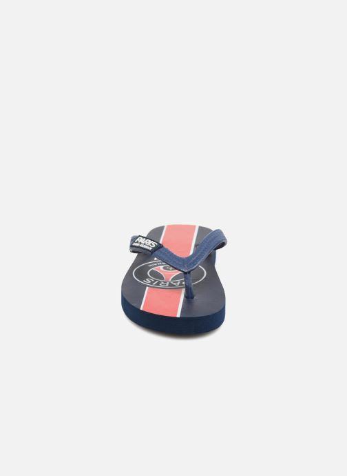 Tongs PSG Artus Bleu vue portées chaussures