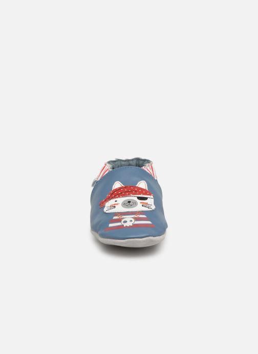 Chaussons Robeez Pirate Catz Bleu vue portées chaussures