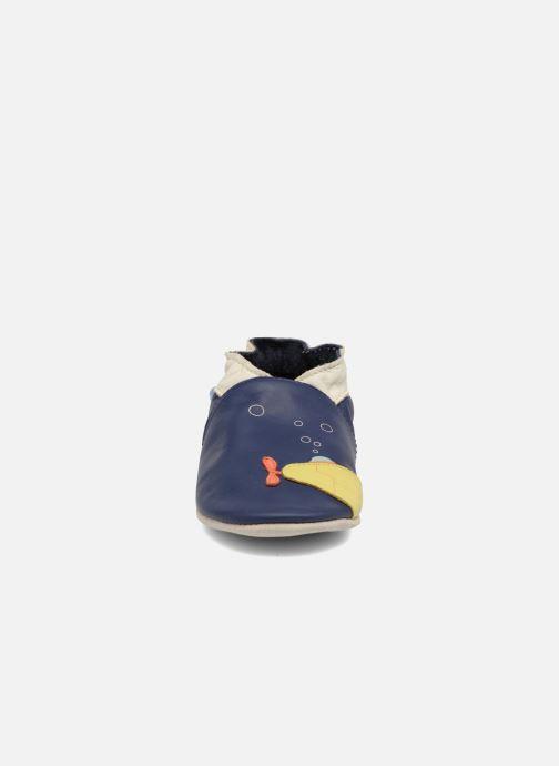 Hausschuhe Robeez Submarine blau schuhe getragen