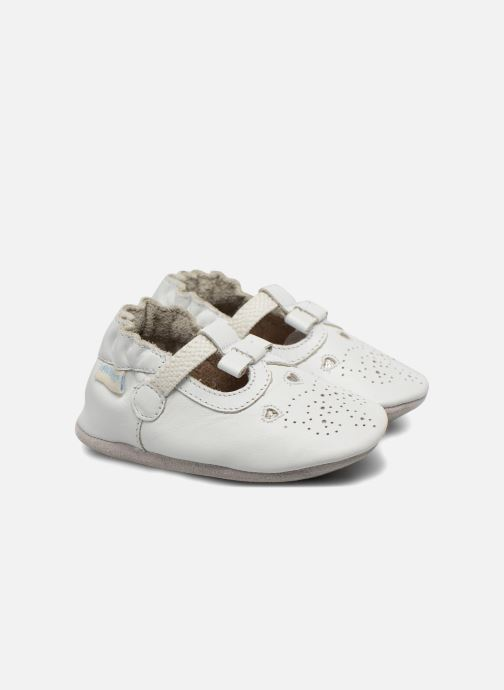 Slippers Robeez Pretty Star White detailed view/ Pair view