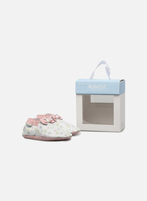 Chaussons Robeez Cute Flowers Blanc vue 3/4
