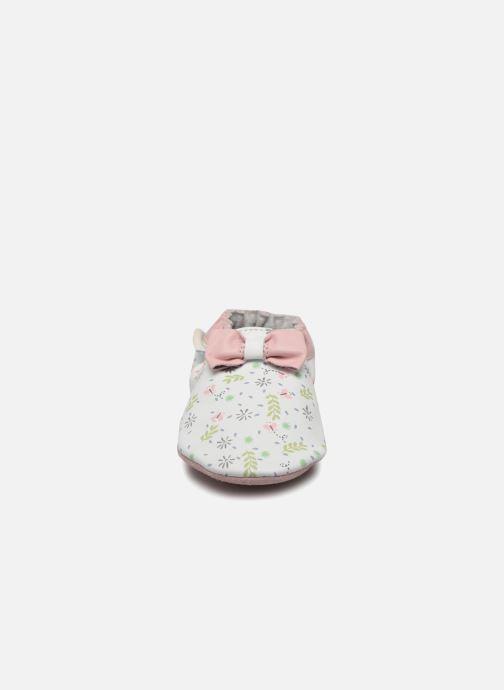 Chaussons Robeez Cute Flowers Blanc vue portées chaussures