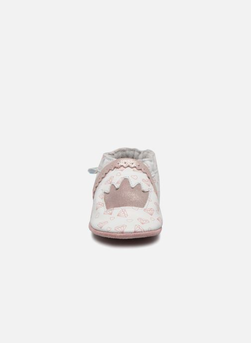 Chaussons Robeez Lovely Princess Blanc vue portées chaussures