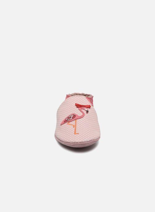Chaussons Robeez Pink Flamingo Rose vue portées chaussures