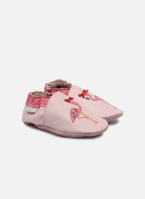 Chaussons Robeez Pink Flamingo Rose vue détail/paire