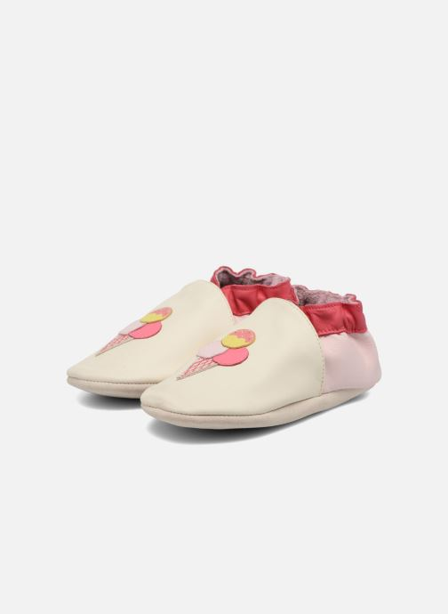 Chaussons Robeez Pop Sicle Blanc vue 3/4