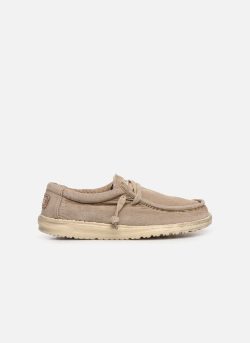 Sneakers DUDE Wally Washed Bruin achterkant