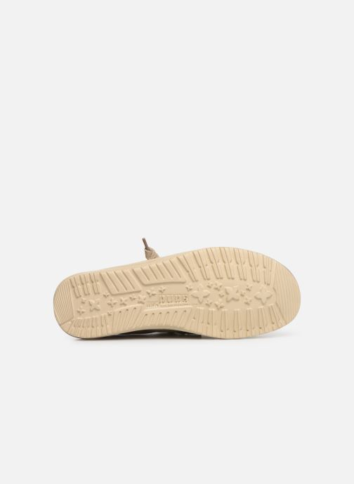 Baskets DUDE Wally Washed Marron vue haut