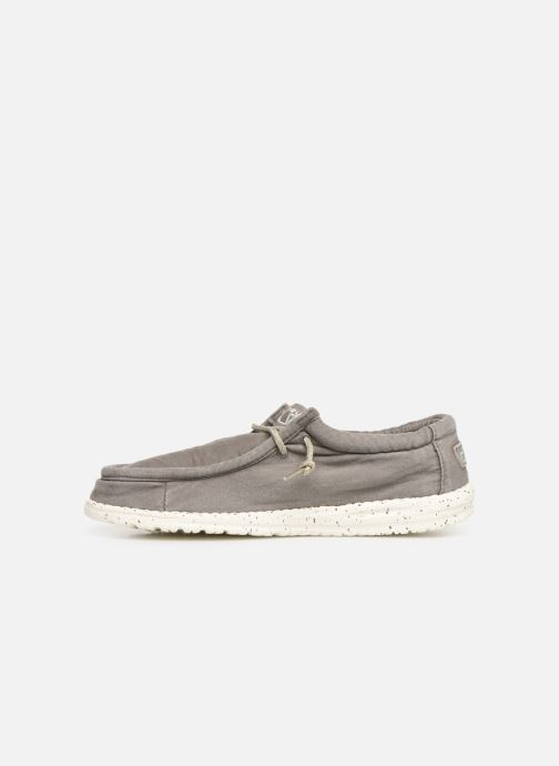 Baskets DUDE Wally Washed Gris vue face