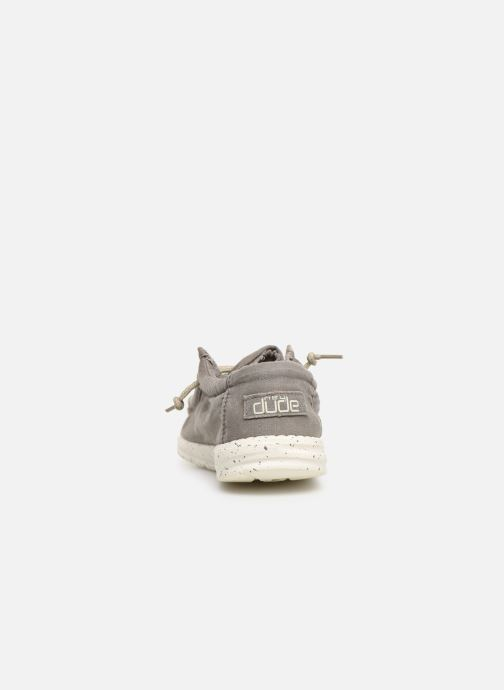 Baskets DUDE Wally Washed Gris vue droite