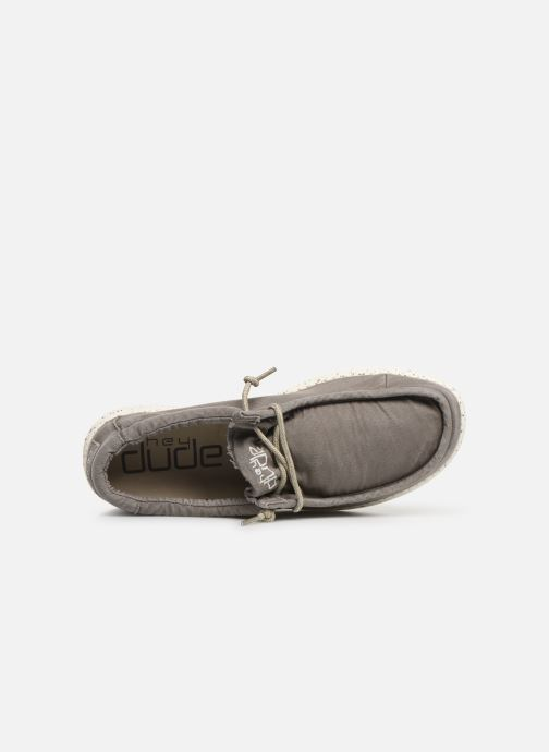 Baskets DUDE Wally Washed Gris vue gauche