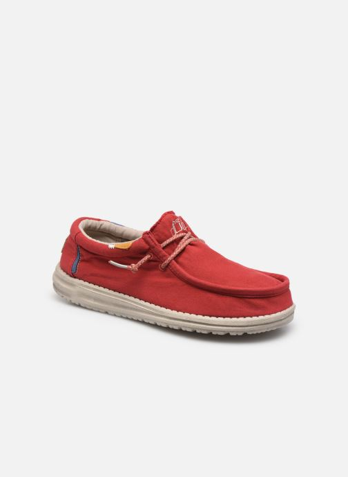 Baskets DUDE Wally Washed Rouge vue détail/paire