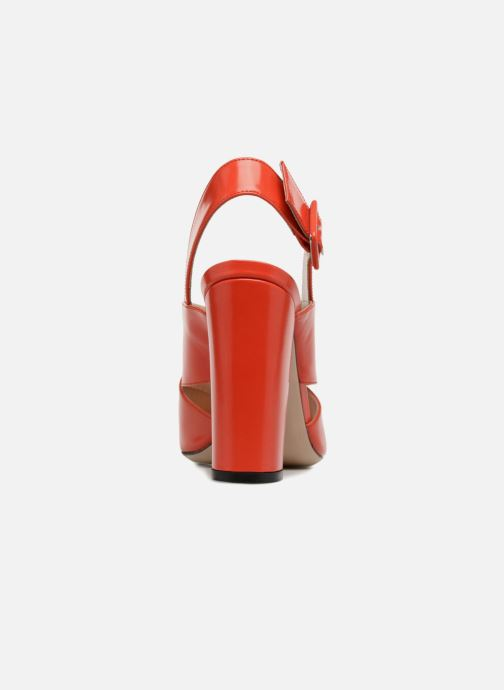 Sandales et nu-pieds Essentiel Antwerp Priska Rouge vue droite