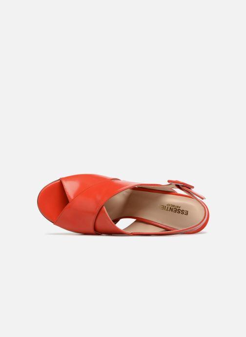 Sandales et nu-pieds Essentiel Antwerp Priska Rouge vue gauche