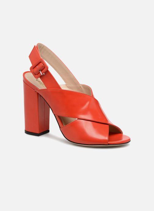Sandales et nu-pieds Essentiel Antwerp Priska Rouge vue détail/paire