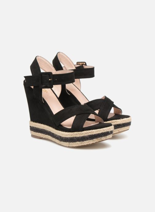 Sandals Essentiel Antwerp Patto Black 3/4 view