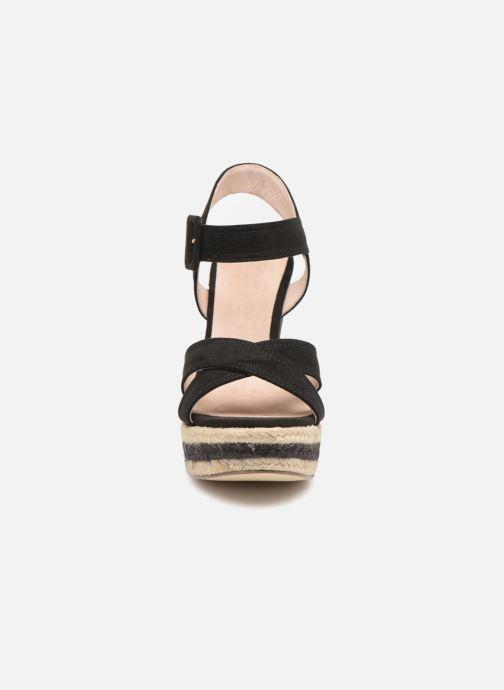 Sandales et nu-pieds Essentiel Antwerp Patto Noir vue portées chaussures