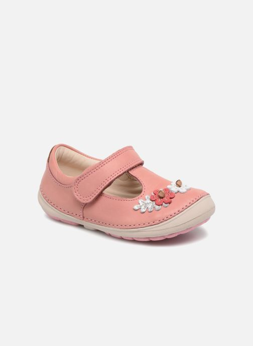 Ballerines Clarks Softly Blossom Rose vue détail/paire