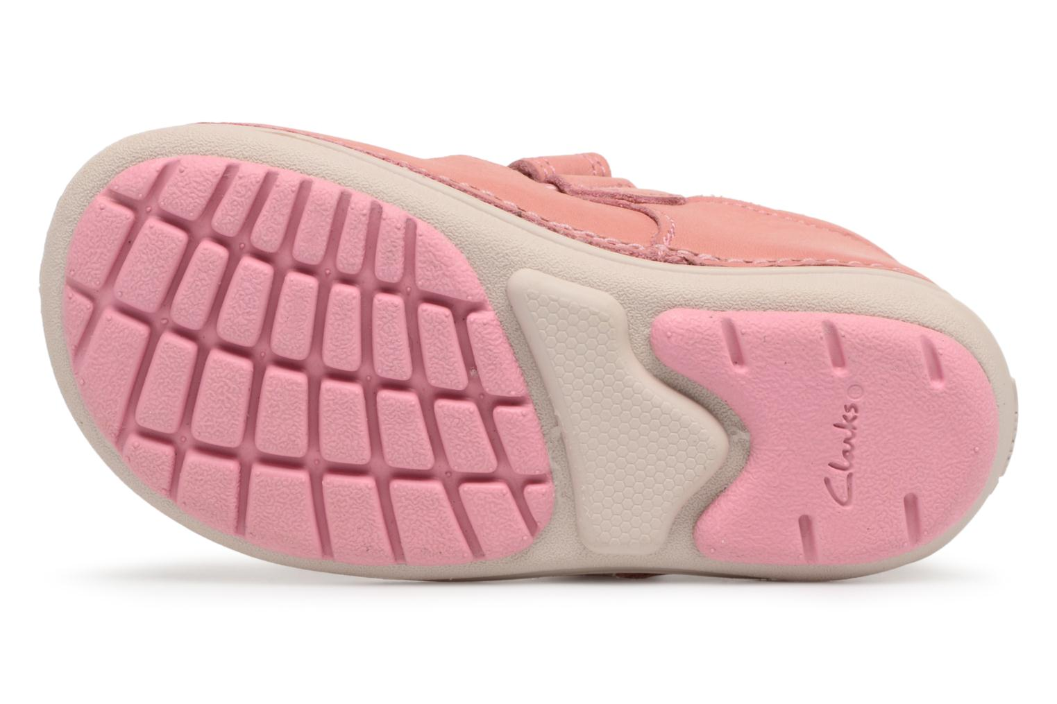 Ballet pumps Clarks Softly Blossom Pink view from above