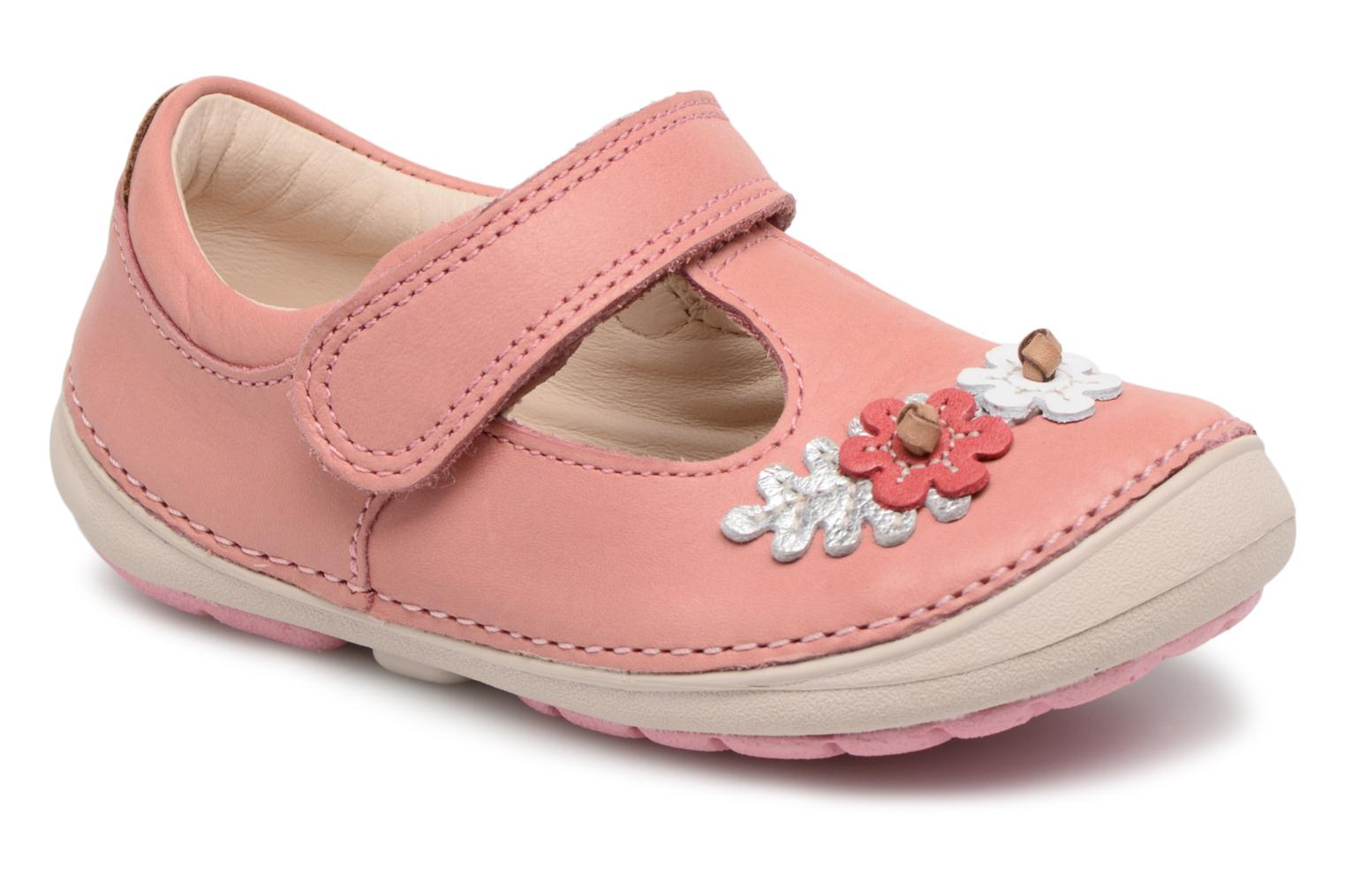 Ballet pumps Clarks Softly Blossom Pink detailed view/ Pair view