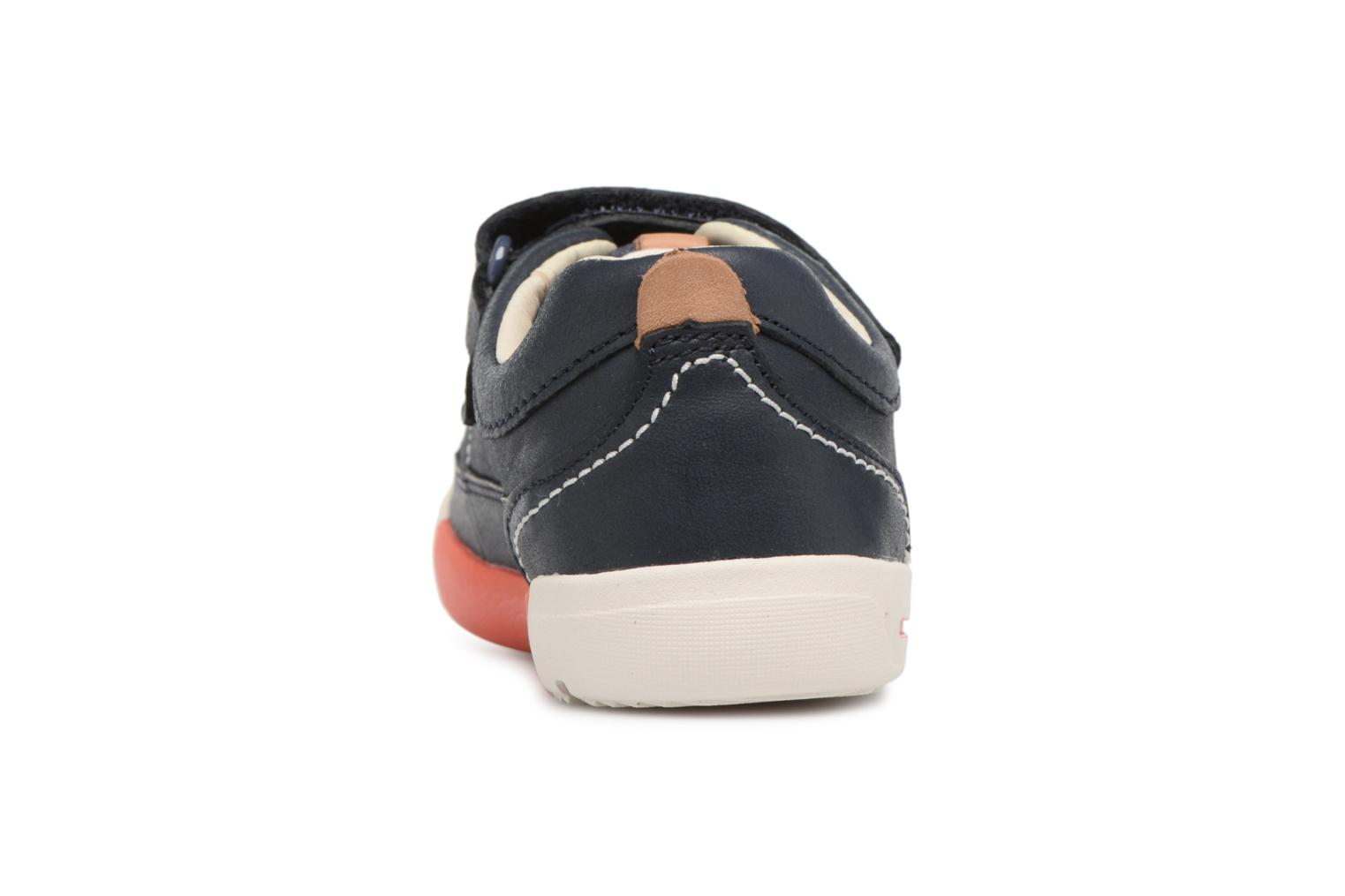 Trainers Clarks Mini Oasis Blue view from the right
