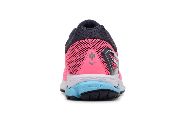 Chaussures de sport Mizuno Wave Rider 21 (W) Rose vue droite