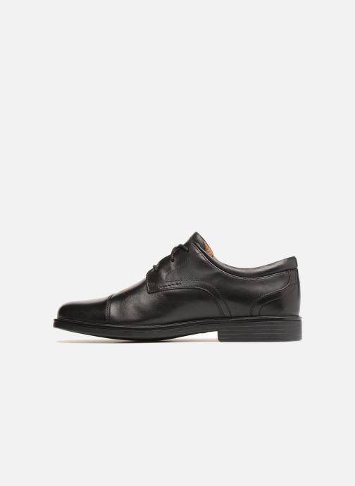 Zapatos con cordones Clarks Unstructured Un Aldric Cap Negro vista de frente