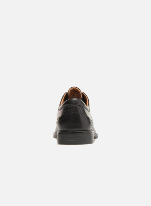 Zapatos con cordones Clarks Unstructured Un Aldric Cap Negro vista lateral derecha