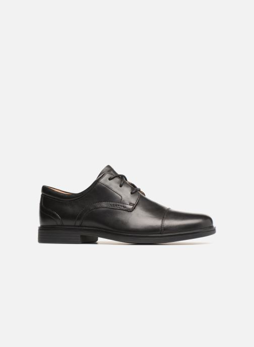 Zapatos con cordones Clarks Unstructured Un Aldric Cap Negro vistra trasera