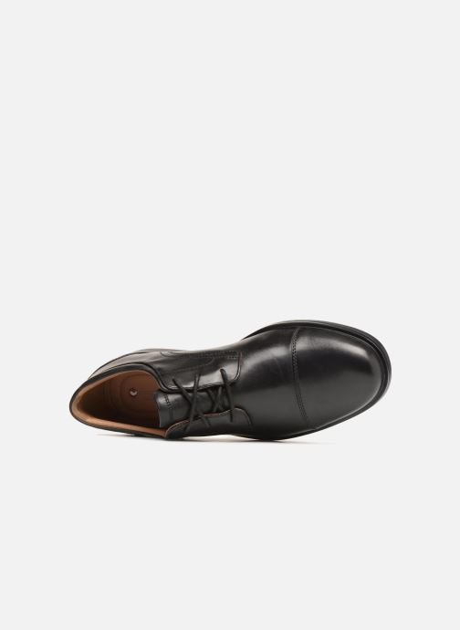 Zapatos con cordones Clarks Unstructured Un Aldric Cap Negro vista lateral izquierda